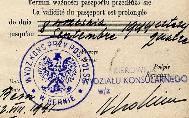 Podrobiony dokument przygotowany przez Grupę Berneńską