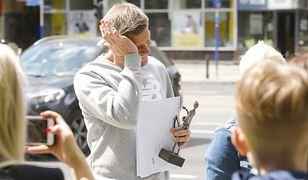"""Filip Chajzer zaskoczony pod studiem """"Dzień dobry TVN"""". Oniemiał z wrażenia"""