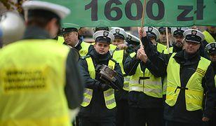 Manifestacja inspektorów transportu drogowego zorganizowana przez Związek Zawodowy Inspekcji Transportu Drogowego, 16 października 2015 r.