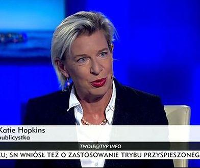 """Katie Hopkins """"wkręcona"""" w zmyśloną nagrodę. Upokorzenie prawicowej skandalistki"""