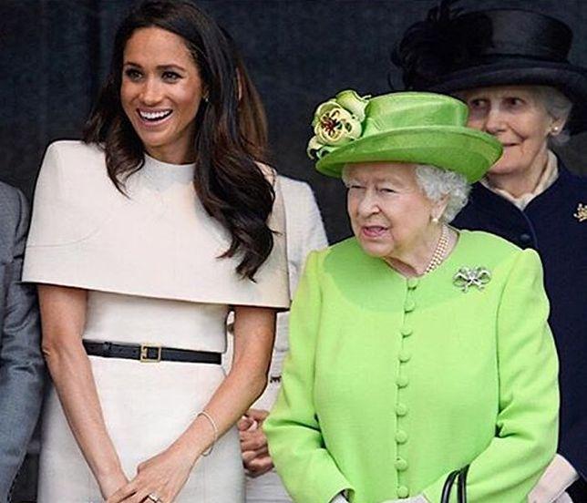 Księżna Meghan zalicza wpadkę za wpadką. Co z tego, przecież bawią nawet królową