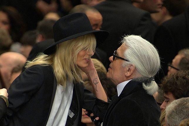 Anja Rubik żegna się z Karlem Lagerfeldem