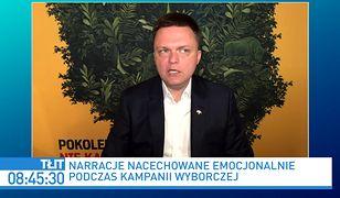 """Wybory 2020. """"Wyjątkowo nieeleganckie"""". Szymon  Hołownia o działaniach TVN24"""