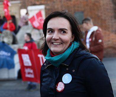 Joanna Sadzik na Marszu Szlachetnej Paczki, który odbył się w listopadzie tego roku w Krakowie