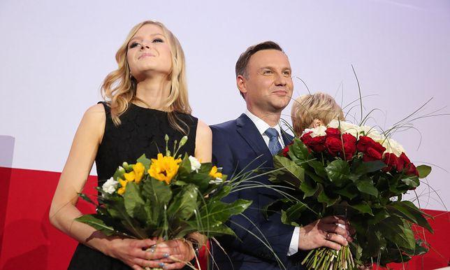 Kinga Duda z ojcem, prezydentem Andrzejm Dudą
