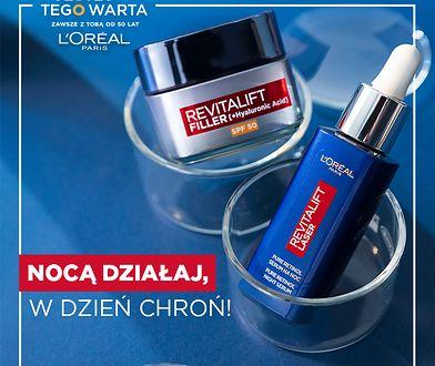 Z RETINOLEM ZWALCZYSZ ZMARSZCZKI NAWET… KIEDY ŚPISZ! Wyjątkowa nowość od L'Oréal Paris: Revitalift Laser Pure Retinol Serum na Noc