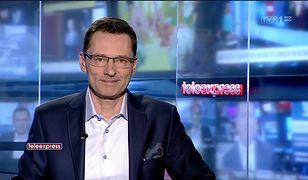 """Krzysztof Ziemiec zadebiutował w """"Teleexpressie"""" 7 lutego 2019 r."""