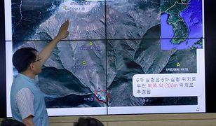 Szacowane miejsce ostatniej próby jądrowej Korei Północnej