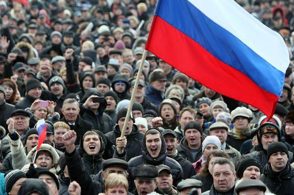 Blisko 10 tys. osób na prorosyjskiej manifestacji w Doniecku