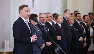 Andrzej Duda podczas nominacji nowych ministrów