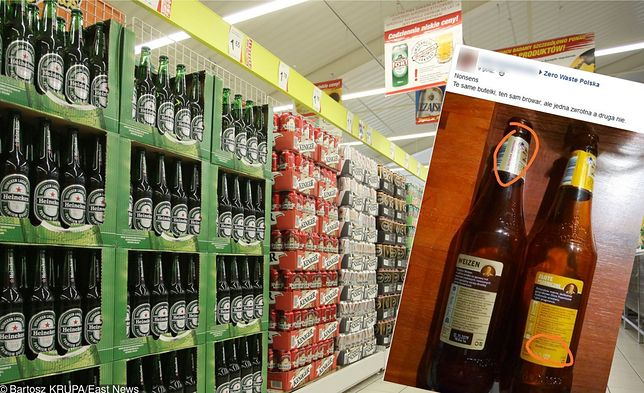 Jeden producent, jedna marka, a butelki różne. Jedna zwrotna, druga nie.