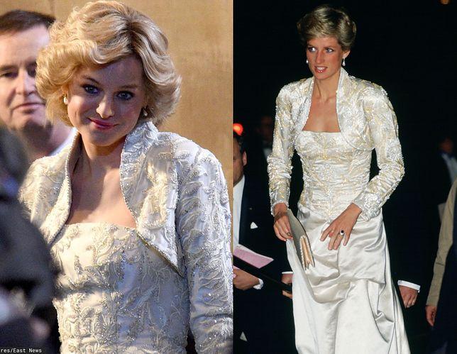 Emma Corrin jako księżna Diana