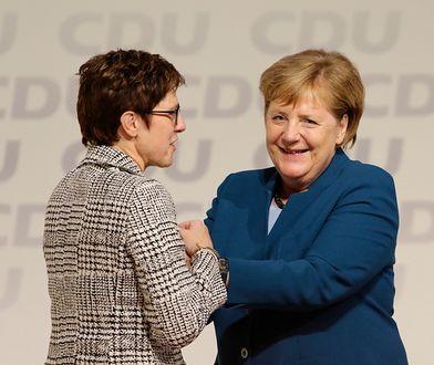 """Annegret Kramp-Karrenbauer nową szefową CDU. Zwycięstwo """"Mini-Merkel"""""""