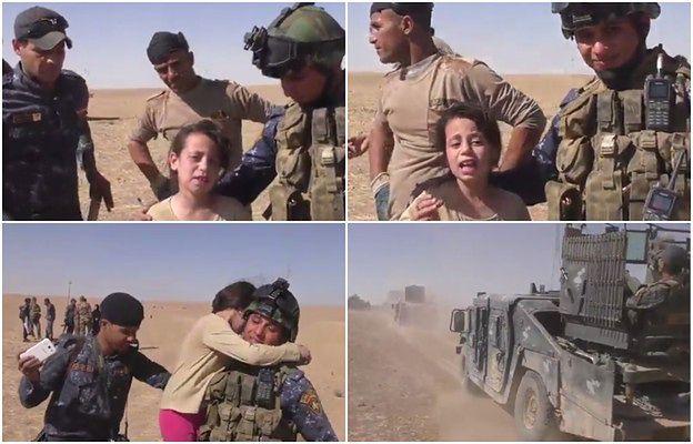 10-latka odbita z rąk terrorystów z Państwa Islamskiego dziękuje żołnierzom za ratunek