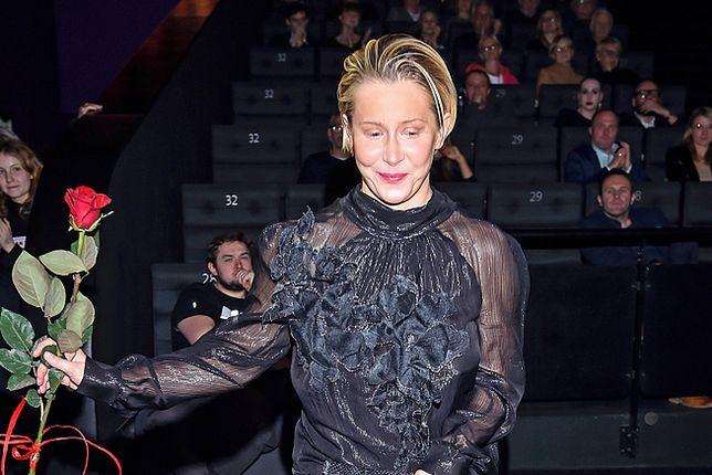 Katarzyna Warnke zadała szyku w czarnej sukni