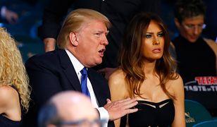 """Melania Trump """"przyłapana"""". Jadła kolację z mężem"""