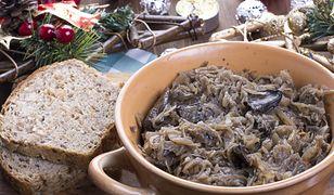 Kapusta z grochem i grzybami