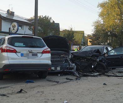 Piaseczno. Karambol z udziałem kilku aut (Wawa Hot News 24)