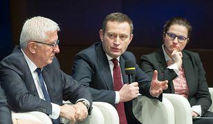 Od lewej: Wadim Tyszkiewicz, Pawel Rabiej, Aleksandra Dulkiewicz
