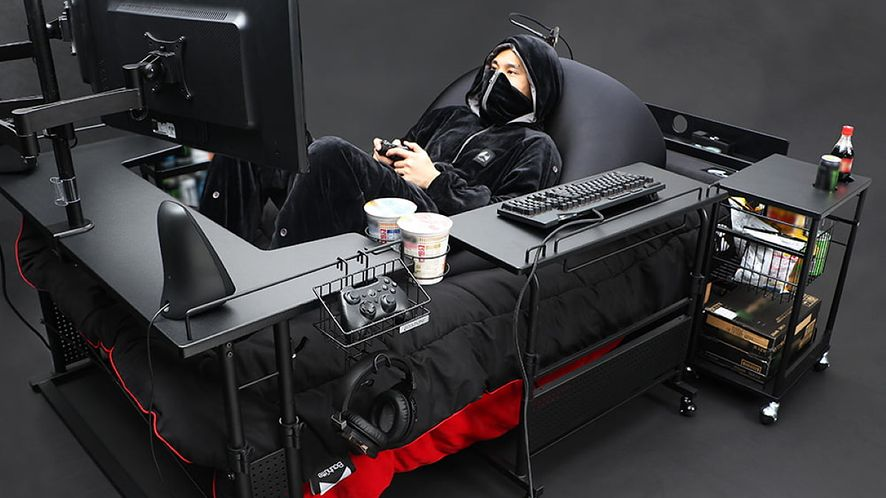 Skoro mamy już gamingowe biurka, to czemu nie łóżko? /fot. Bauhutte