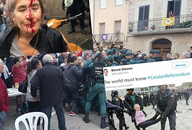 Zamieszki w Katalonii spowodowane referendum