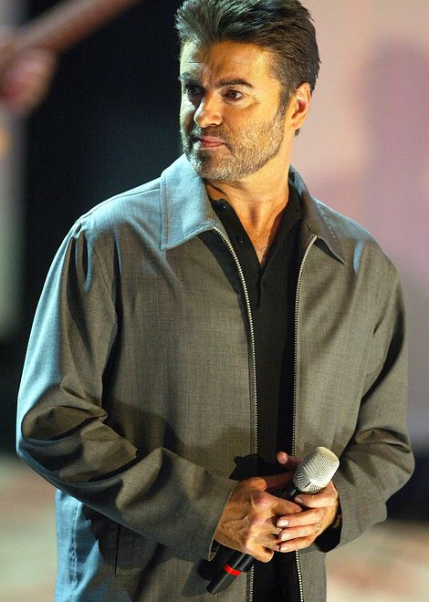 GEORGE MICHAEL ON THE GERMAN TV SHOW 'WETTEN DAS', BASLE, SWITZERLAND, 27 MARCH 2004. PICS: SVEN HOOGERHUIS/LFI
