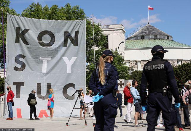 Wybory 2020. Protest Obywateli RP przed Sejmem