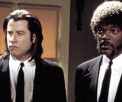 """Travolta i Jackson wystąpili razem w """"Pulp Fiction""""."""