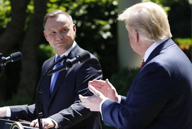 Andrzej Duda nie wie, co z przyjazdem Donalda Trumpa. Amerykanie milczą