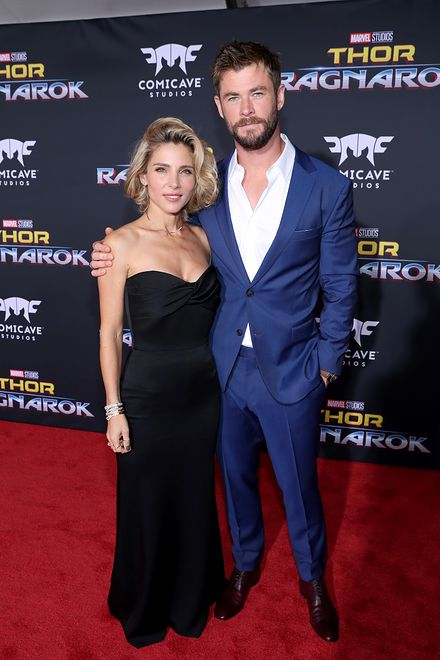 "at The World Premiere of Marvel Studios' ""Thor: Ragnarok"" at the El Capitan Theatre on October 10, 2017 in Hollywood, California."