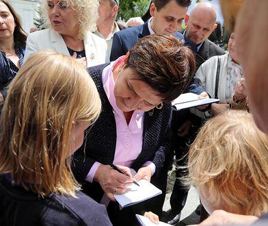 Beata Szydło z wizytą w Węgrowie. Miała ochronę SOP?