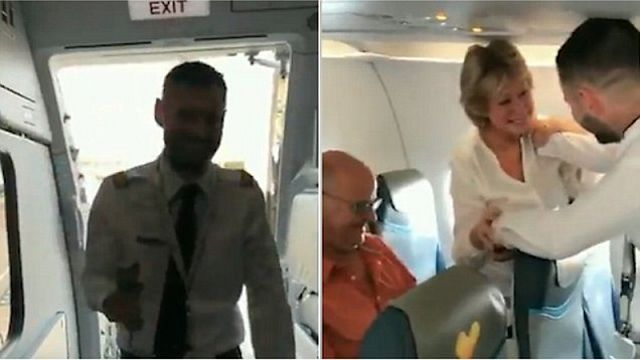 Pilot Joey Woollings zaskoczył swoich rodziców i podziękował im w piękny sposób.