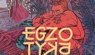 """Okładka książki """"Egzotyka. Wywiad-rzeka"""" Kuby Stemplowskiego."""
