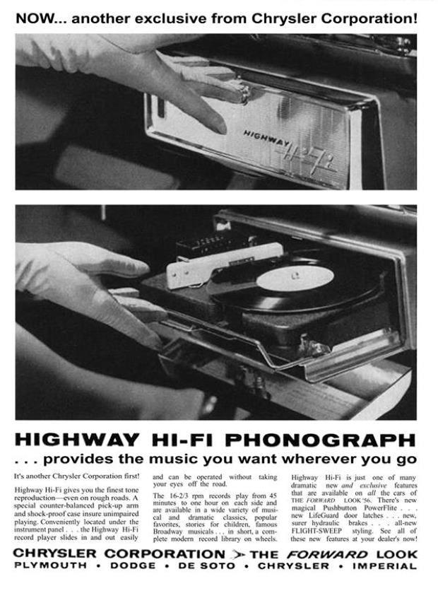 Highway, czyli odtwarzacz płyt analogowych w samochodzie.