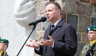 Andrzej Duda na Cmentarzu w Siekierkach nad Odrą, kwiecień 2017