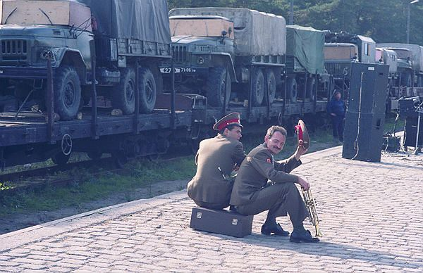 Borne Sulinowo - wyjazd ostatniego transportu żołnierzy armii rosyjskiej