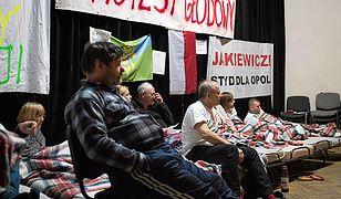 Protestujący w Dobrzeniu Wielkim