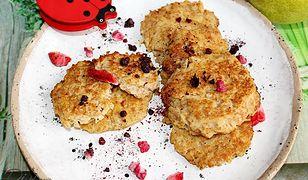 Placuszki jabłkowo-gruszkowe z otrębami. Bez mąki i cukru