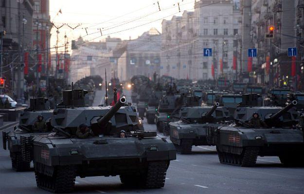 4 maja 2015 r., Moskwa. Próba przed defiladą w Dzień Zwycięstwa
