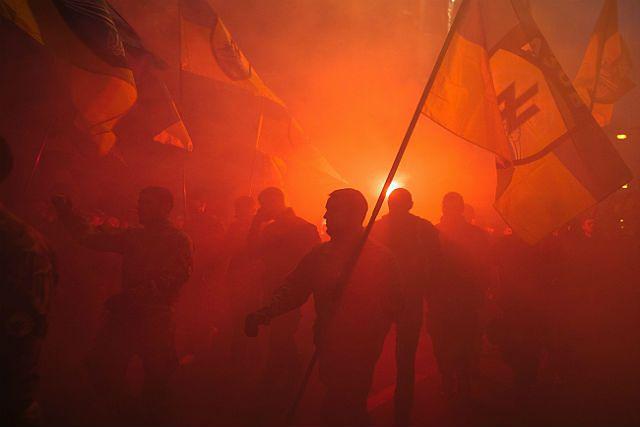 Tysiące osób w marszu UPA na Ukrainie