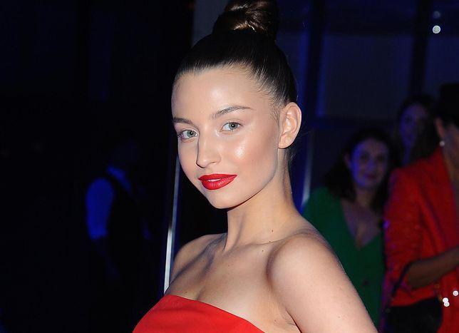 Julia Wieniawa na jednej z imprez branżowych