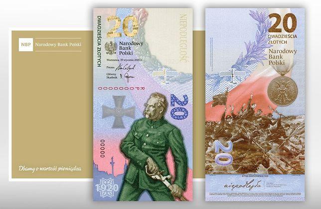 Ten banknot NBP wyemitował w nakładzie 60 tys. sztuk