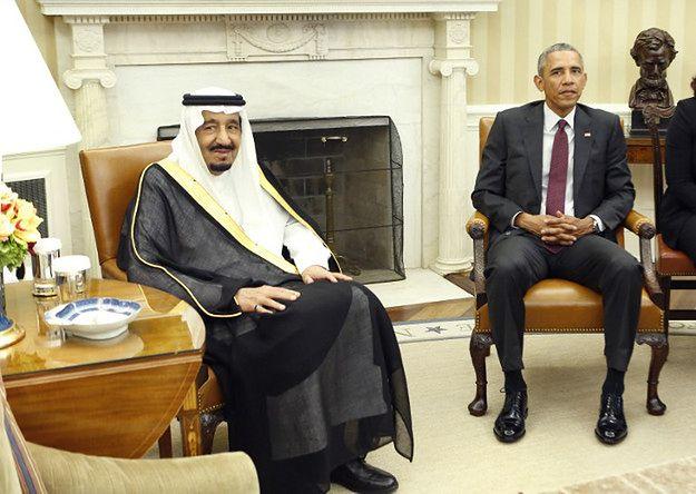 Król Salman i Barack Obama