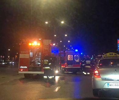 Na miejscu wypadku pracuje policja