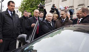Jarosław Kaczyński i Waldemar Paruch