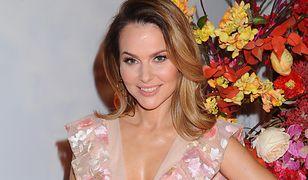 Paulina Sykut-Jeżyna lubi florystyczne motywy