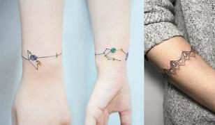Tatuaż bransoletka to ciekawa propozycja oryginalnej ozdoby na rękę