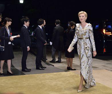 Agata Duda w sukni przekazanej na aukcję WOŚP