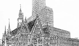 Kontrowersyjny projekt Maxa Berga zakładał budowę wieżowca na wrocławskim rynku
