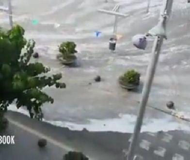 Tsunami na szczęście nie wyrządziło większych szkód.